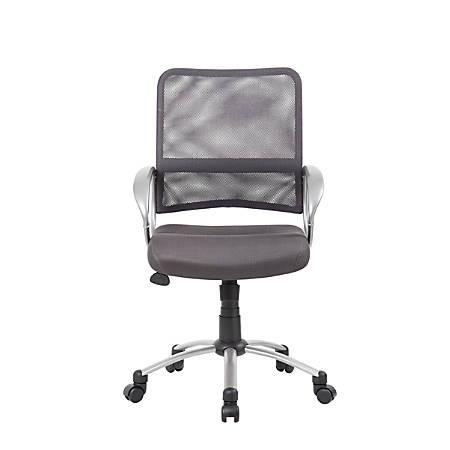 Boss Mesh Mid-Back Multipurpose Task Chair, Charcoal-Gray/Black-Pewter