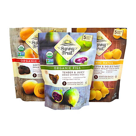 SUNNY FRUIT Organic Dried Fruit Variety Pack, 8.8 oz, 3 Pack