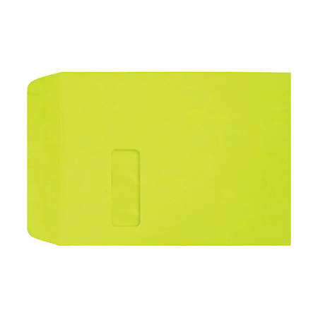 """LUX Open-End Window Envelopes With Peel & Press Closure, #9 1/2, 9"""" x 12"""", Wasabi, Pack Of 1,000"""