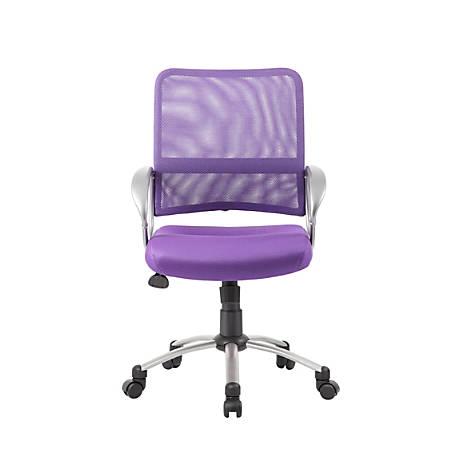 Boss Mesh Mid-Back Multipurpose Task Chair, Purple/Black/Pewter