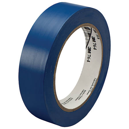 "3M™ 764 Vinyl Tape, 3"" Core, 1"" x 36 Yd., Blue, Case Of 36"