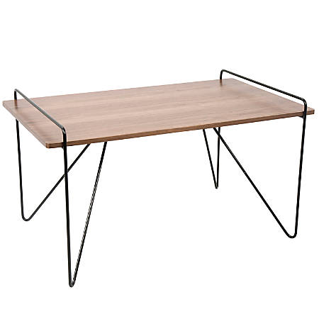Lumisource Loft Mid-Century Modern Coffee Table, Rectangular, Walnut/Black