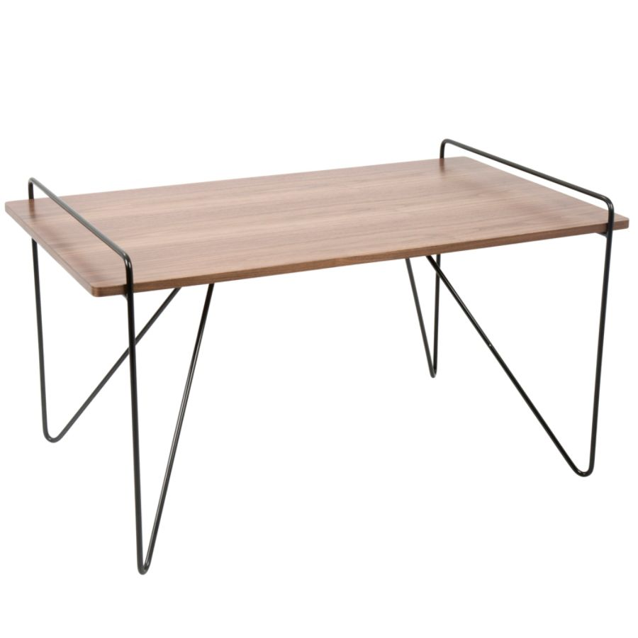 ... Mid Century Modern Coffee Table, Rectangular, Walnut/Black. Use + And    Keys To Zoom In And Out, Arrow Keys Move The Zoomed Portion Of The Image