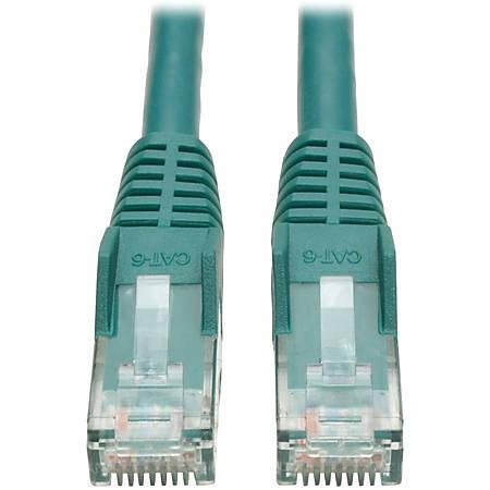 Tripp Lite 2ft Cat6 Gigabit Snagless Molded Patch Cable RJ45 M/M Green 2'