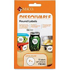 MACO Dissolvable Labels MACM83401 2 Diameter