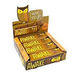 AWAKE Caffeinated Chocolate™ Caramel Bars, 1.5 Oz, Box Of 12 Item # 898661 at Office Depot in Cypress, TX | Tuggl
