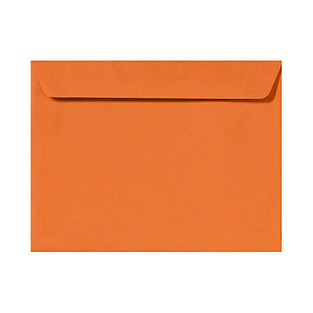 "LUX Booklet Envelopes With Moisture Closure, #9 1/2, 9"" x 12"", Mandarin Orange, Pack Of 500"