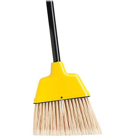 "Genuine Joe High-Performance Angled Broom, 9"", Yellow"