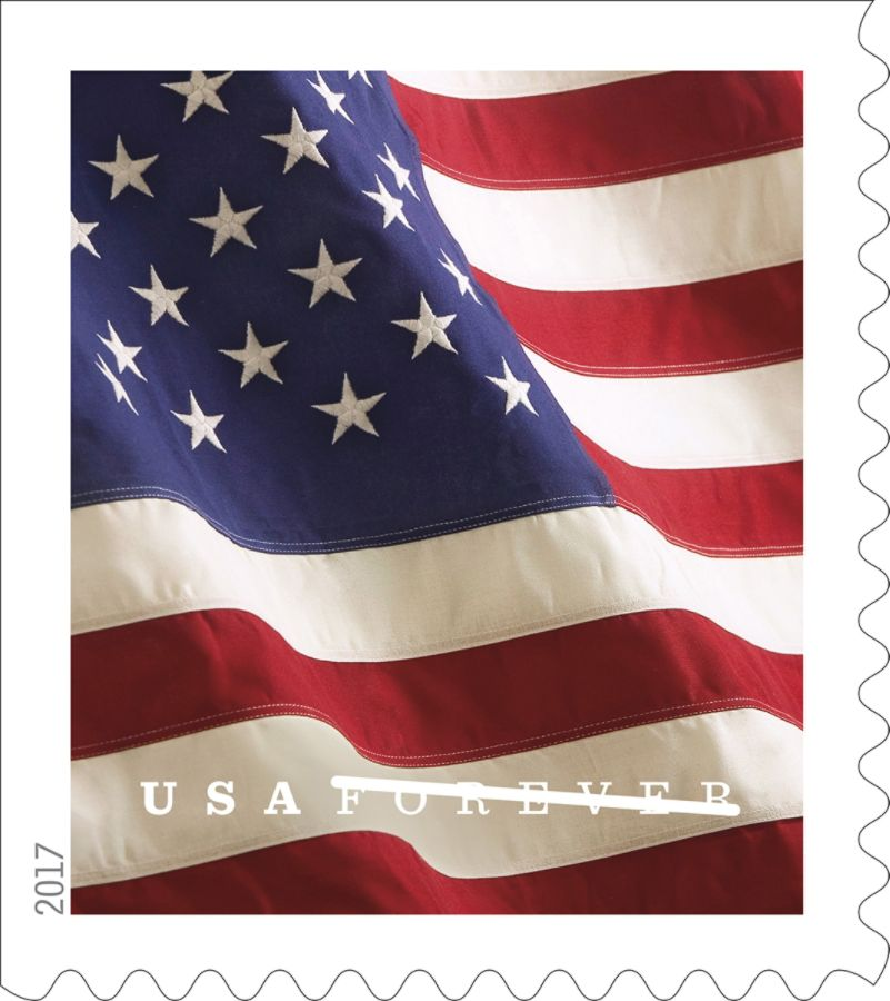 Book of 100 USPS US Flag 2018 Forever Stamps