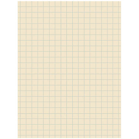 """Pacon® Quadrille-Ruled Heavyweight Drawing Paper, 1/2"""" Squares, Manila, Pack Of 500 Sheets"""