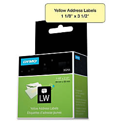 DYMO Address Labels DYM30255 Permanent Adhesive