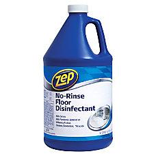 Zep Commercial No Rinse Floor Disinfectant