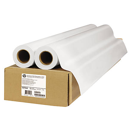 "HP Premium Matte Polypropylene, 42"" x 75', 52 Lb, Carton Of 2 Rolls"