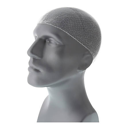 """Royal® Lightweight Latex-Free Nylon Hairnets, White, 28"""", Pack Of 144 Hairnets"""