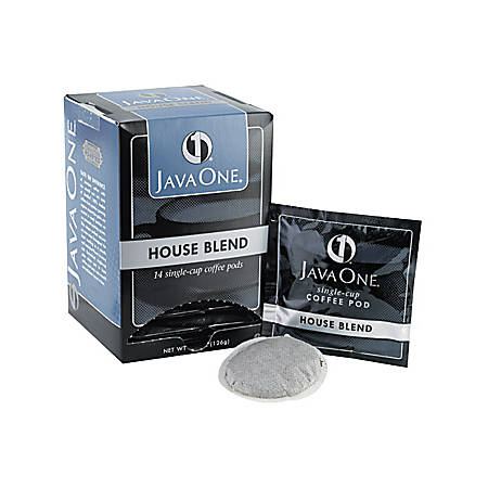 Java One® Single Cup Coffee Pods, House Blend, Box Of 14