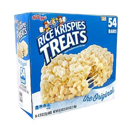 KELLOGG'S Original Rice Krispies Treats Snack Bars, 0.78 oz,  60 Count