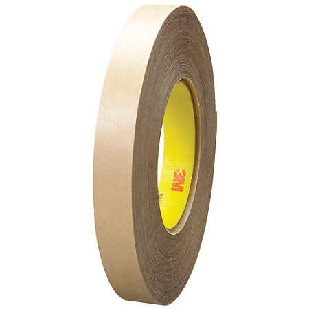 """3M™ 9485PC Adhesive Transfer Tape Hand Rolls, 3"""" Core, 0.75"""" x 60 Yd., Clear, Case Of 6"""