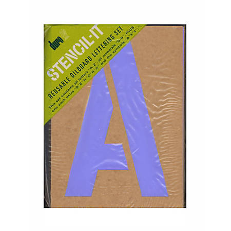 "Large Alphabet Stencils Letters 4/"" Stencil Oil Board Numbers Symbols Reusable ."