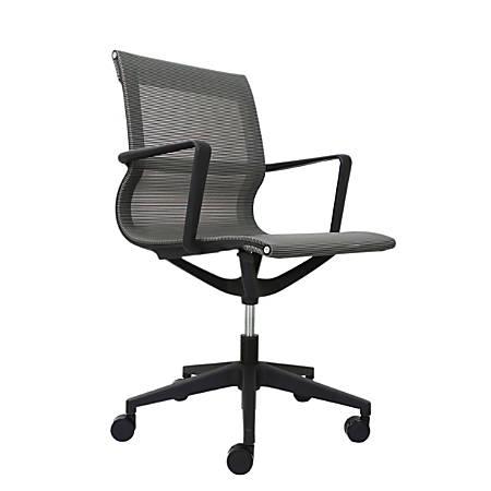 Eurotech Kinetic Mesh Task Chair With Flex Back, Charcoal/Black