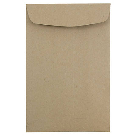"JAM Paper® Open-End Catalog Envelopes With Gummed Closure, 6"" x 9"", 100% Recycled, Brown Kraft, Pack Of 10"