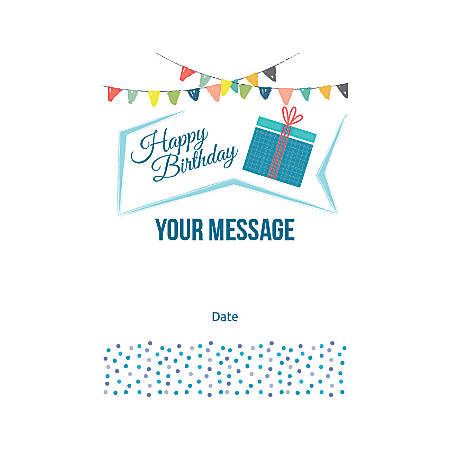 Flat Photo Greeting Card, Birthday Gift, Vertical