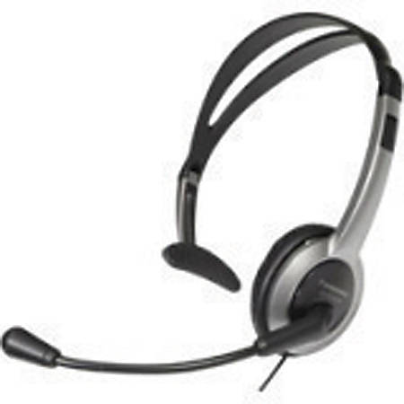 Panasonic KX-TCA430 Headset - Mono - Sub-mini phone - Wired - Over-the-head - Monaural - Semi-open - 4 ft Cable