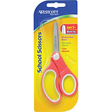 Westcott School Scissors 5 Blunt Assorted