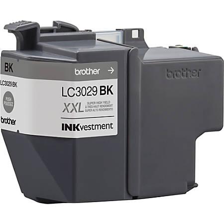 Brother Genuine LC3029BK INKvestment Super High Yield Black Ink Cartridge - Inkjet - Super High Yield - Black