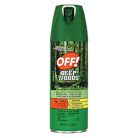 OFF! Deep Woods Insect Repellent - Spray - Kills Mosquitoes, Ticks, Black Flies, Sand Flies, Chiggers, Fleas, Gnats - 6 fl oz - Green
