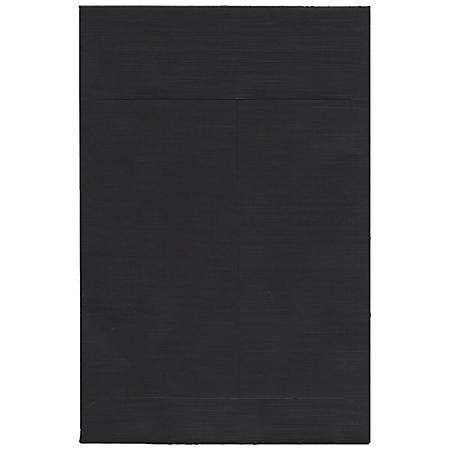 "JAM Paper® Open-End Catalog Envelopes With Gummed Closure, 6"" x 9"", Black, Pack Of 10"