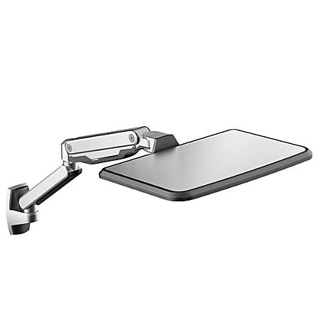 """Loctek WS2L Wall-Mounted Sit-Stand Laptop Arm, 21.6""""H x 19.7""""W x 13""""D, Silver"""