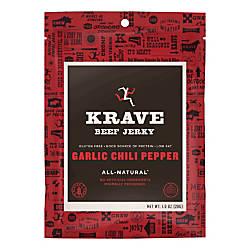 KRAVE Jerky Garlic Chili Pepper Beef
