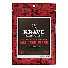 KRAVE Jerky Garlic Chili Pepper Beef