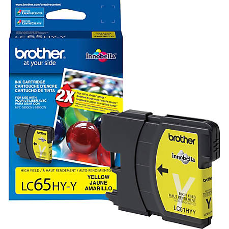 Brother LC65HYY Original Ink Cartridge - Inkjet - 750 Pages - Yellow - 1 Each