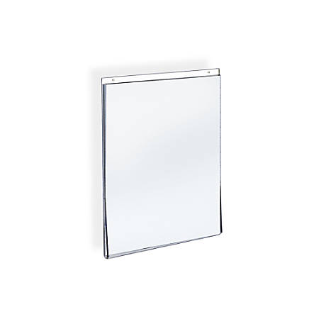 "Azar Displays Wall-Mount U-Frame Acrylic Sign Holders, 11"" x 8 1/2"", Clear, Pack Of 10"