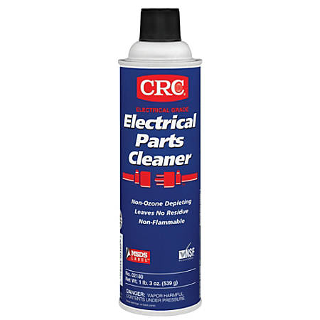 CRC Electrical Parts Cleaner, 20 Oz Aerosol Can, Clear