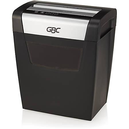 GBC ShredMaster PX10-06 - Non-continuous Shredder - Super Cross Cut - 10 Per Pass - for shredding Staples, Paper Clip - P-4 - 6 Minute Run Time - 6 gal Wastebin Capacity - Black, Chrome
