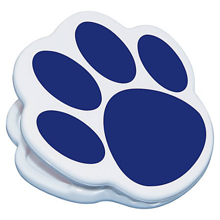 Ashley Animal Paw Magnet Clip - for Artwork, Sign, Photo - Magnetic, Strong - 1Each - Blue