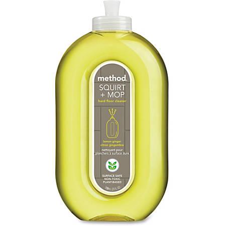 Method Squirt + Mop Lemon Floor Cleaner - Ready-To-Use Spray - 0.20 gal (25 fl oz) - Lemon Ginger Scent - 6 / Carton - Lemon