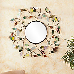 Southern Enterprises Decorative Metallic Round Leaf