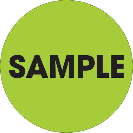 """Tape Logic® Preprinted Special Handling Labels, DL1269, Sample, Round, 2"""", Fluorescent Green, Roll Of 500"""