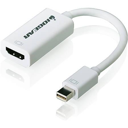 IOGEAR Mini DisplayPort to HD Adapter Cable - HDMI/Mini DisplayPort A/V Cable for Video Device, Projector, TV, Monitor, MacBook, iMac - First End: 1 x Mini DisplayPort Male Digital Audio/Video - Second End: 1 x HDMI Female Digital Audio/Video - 1 Pack