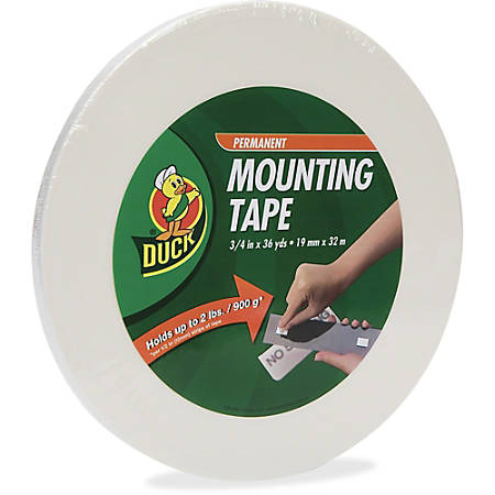 "Duck Brand Double-sided Foam Mounting Tape, 3/4"" x 1,296"", White"