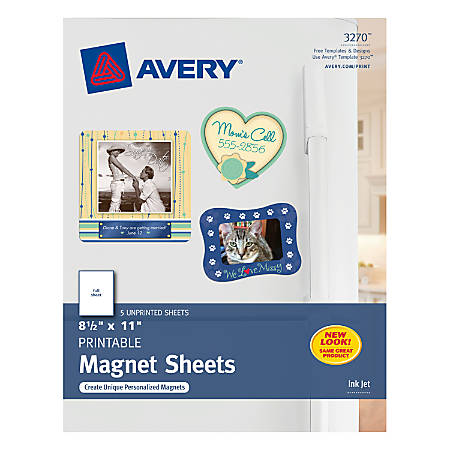 cd6706ad Avery Magnet Sheets 8.5x11 5 Sheets - Office Depot