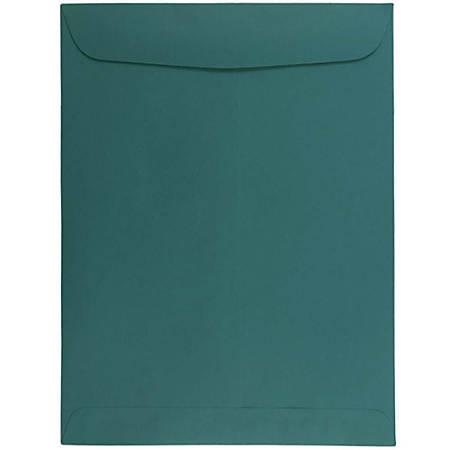 "JAM Paper® Open-End Catalog Envelopes With Gummed Closure, 9"" x 12"", Teal, Pack Of 10"