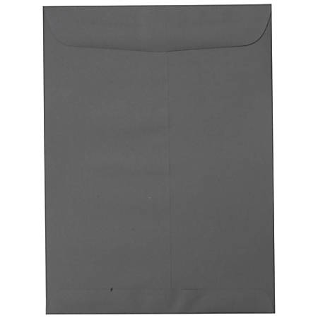 "JAM Paper® Open-End Catalog Envelopes With Gummed Closure, 10"" x 13"", Dark Gray, Pack Of 10"