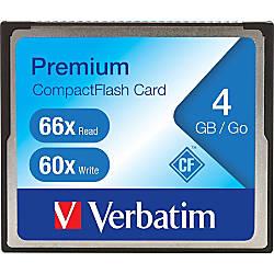 Verbatim 4GB 66X Premium CompactFlash Memory