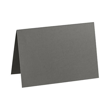 "LUX Folded Cards, A9, 5 1/2"" x 8 1/2"", Smoke Gray, Pack Of 50"