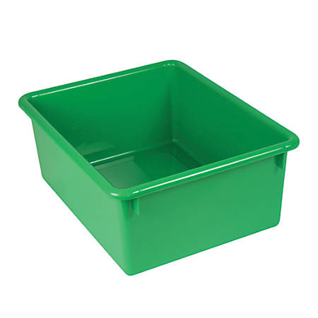 """Stowaway® 5"""" Letter Box, No Lid, 5""""H x 10 1/2""""W x 13""""D, Green, Pack Of 4"""