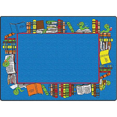 "Flagship Carpets Bookworm Border, Rectangle, 6' x 8' 4"", Multicolor"